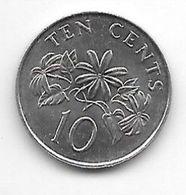 Singapore 10 Cents 1986 Km 51 Unc - Singapore