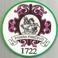 PANCEVO BREWERY Old  Beer Coaster From Yugoslavia Serbia - Sous-bocks