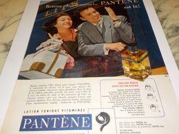 ANCIENNE PUBLICITE RETROUR DE VACANCES  PANTENE 1958 - Parfums & Beauté