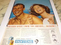 ANCIENNE PUBLICITE  VACANCES D ETE  PANTENE 1958 - Parfum & Kosmetik