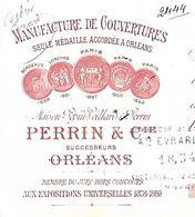 Traite 1896 / 45 ORLEANS / PERRIN & Cie / PEPIN-VEILLARD / Manufacture De Couvertures - Lettres De Change