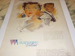 ANCIENNE PUBLICITE FEMME QUE L ON REMARQUE CHEVEUX VITAPOINTE DE VITABRILL  1958 - Parfum & Kosmetik