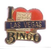 D74 Pin's Jeux Casino USA Las Vegas Bingo Cœur Version Bleue Achat Immédiat - Jeux