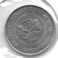 *singapore 10 Cents 1987 Km 51 Unc - Singapore