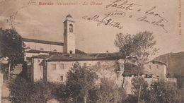 BARZIO-LECCO-VALSASSINA-LA CHIESA-CARTOLINA  VIAGGIATA IL 10-7-1912-RETRO INDIVISO - Lecco