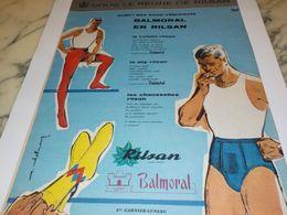 ANCIENNE  PUBLICITE ENFIN DES SOUS VETEMENTS  RILSAN 1958 - Vintage Clothes & Linen