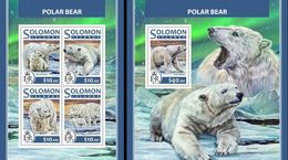 Salomon 2017, Animals, Polar Bears, 4val In BF +BF - Arctic Wildlife