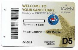 Norwegian Cruise Line, Used Magnetic Cruise Cabin Key Card, #  Kc-107 - Cartas De Hotels