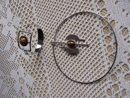 Bijoux Anciens Collier Et Bracelet Avec Pierre AGATE -  Année 1965 - Joyas & Relojería