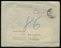 WW II DR Feldpost Briefumschlag: Gebraucht Mit Landpoststempel Heiningen über Börßum - Feldpost Nr. 30449 , 1940, Beda - Duitsland