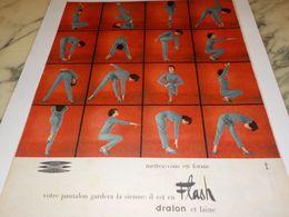 ANCIENNE PUBLICITE METTEZ VOUS EN FORME   LESUR 1958 - Vintage Clothes & Linen