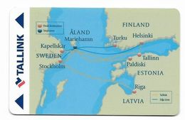 Tallink Cruises, Scandinavia, Used Magnetic Cruise Cabin Key Card, #  Kc-109 - Cartas De Hotels