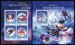 SIERRA LEONE 2016 - Champions Of Sochi Olympics - YT CV=40 €, 5773-6 + BF903 - Winter 2014: Sochi