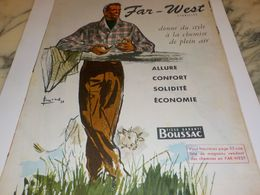 ANCIENNE  PUBLICITE FAR WEST TISSUS BOUSSAC  1955 - Vintage Clothes & Linen