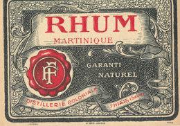 1174 / ETIQUETTE -   RHUM   MARTINIQUE  THAIS SEINE - Rhum