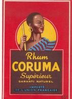 1175 / ETIQUETTE -   RHUM    CORUMA - Rhum