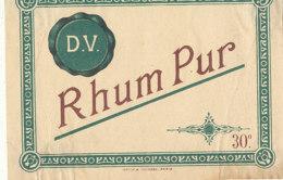 1176 / ETIQUETTE -   RHUM    PUR  D.  V. - Rhum