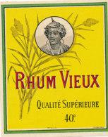 1183 / ETIQUETTE -   RHUM   VIEUX  QUALITE SUPERIEURE N° 7455 - Rhum