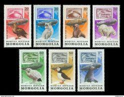 Mongolia 1981 Mih. 1413/19 Aviation. Flight To Antarctica By Graf Zeppelin. Fauna Of Antarctica MNH ** - Zeppelins
