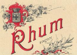 1185 / ETIQUETTE -   RHUM  FACON     N° 654 - Rhum