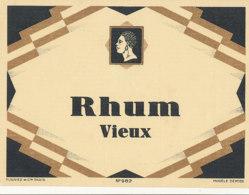 1186 / ETIQUETTE -   RHUM   VIEUX     N° 982 - Rhum