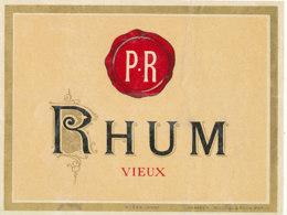 1195 / ETIQUETTE -   RHUM  - VIEUX   P  R.    N° 629 - Rhum