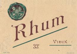 1202 / ETIQUETTE -   RHUM  - VIEUX  33°  N° 680 - Rhum