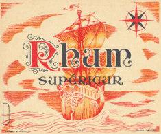 1204 / ETIQUETTE -   RHUM  - SUPERIEUR N° 199 - Rhum