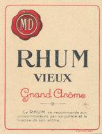 1208 / ETIQUETTE -   RHUM   VIEUX  GRAND AROME   M  D. - Rhum