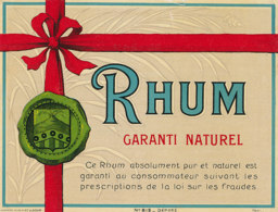1213 / ETIQUETTE -   RHUM    -GARANTI NATUREL N° 812 - Rhum