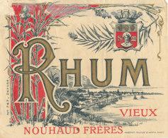 1215 / ETIQUETTE -   RHUM    - VIEUX  NOUHAUD  FRERES N° 747 - Rhum