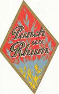 1220 / ETIQUETTE -   RHUM   -   PUNCH AU RHUM N° 254 - Rhum