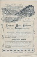 Document Commercial Publicite  Suisse  Abendberg  Pres D'interlaken  Kurrhaus -hotel Bellevue - Suisse