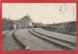 CPA: La Courtine (Creuse) Débarquement Des Troupes (Train - Gare) - La Courtine