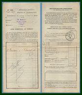 Ribemont (Aisne 02 ) Type A 4 1912 /N° Postes Bordereau Des Valeurs à Recouvrer - Philatelie & Münzen