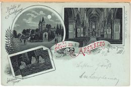 Mondschein-Litho Lithografie Arenberg (Koblenz) 1898 - Koblenz