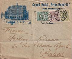 PAYS-BAS LETTRE ILLUSTREE DE AMSTEERDAM GRAND HOTEL PRINS HENDRIK - 1891-1948 (Wilhelmine)