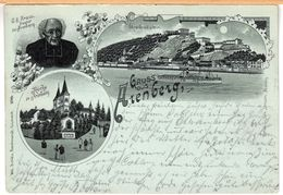 Mondschein-Litho Lithografie Arenberg (Koblenz) 1901 - Koblenz