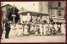 Carte Photo Oyonnax  - Hôtel Grebon  - Char - Déguisement    * Ain 01100 * Fête De Bienfaisance - La Fête Des Fleurs - Oyonnax