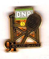 Pin's BNP Roland Garros 91 Zamac  Arthus Bertrand - Arthus Bertrand