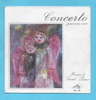 Disque Vinyle 45 Tours : SAINT PREUX  :  CONCERTO POUR UNE VOIX..Scan A : Voir 2 Scans - Instrumental