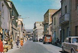 Cartolina Di Fluminimaggiore ( Carbonia ) Via Vitt Emanuele - Carbonia