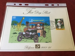 N°3048 Et BL93 Tintin Au Congo FDS - FDC
