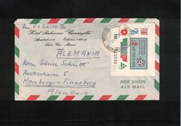 Mexico 1970 Football Interesting Airmail Letter To Germany - México