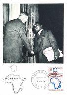 CARTE MAXIMUM 1964 COOPERATION - FDC  - GENERAL DE GAULLE - RELATION FRANCE AFRIQUE - Andere