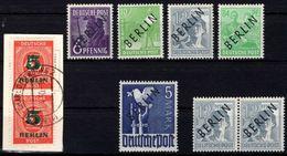 Germany - BERLIN 1948 (West) Mi. 2, 4, 5, 16, 20 MNH & 64 Gestempelt / Pmk. - Ungebraucht