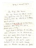 Lettre Manuscrite 1976 Jouy Papa Maman Famille Villaz - Manuscritos