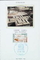LALIBELA ( Ethiopie) Eglise Monolithique CARTE MAXIMUM CARD -  1984 Unesco - Ethiopie