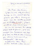 Lettre Manuscrite 1976 Jouy Papa Maman Famille Annecy - Manuscritos