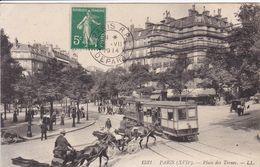 75 PARIS  Place Des Ternes N°1521 , Tramway ,attelage Calèche Avec Cocher - Arrondissement: 17